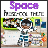 Space Math and Literacy Centers for Preschool, PreK, and Kinder