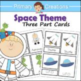 Space Preschool and PreK Literacy Activity