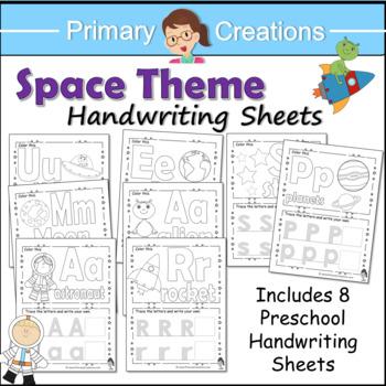 Space Preschool and PreK Literacy Activities