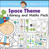 Space Preschool and PreK Literacy,  Maths and Fine Motor A