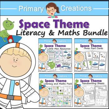Space Preschool and PreK Literacy, Maths and Fine Motor Activities