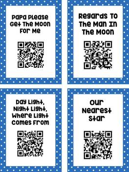 Space QR Code Read Aloud Listening Centers