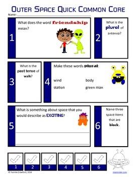 Space No Prep Common Core Literacy (2nd grade)
