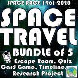 Space Race: USA vs Russia - BUNDLE, Timeline, Quiz, Escape