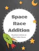 Space Race Addition: File Folder Game