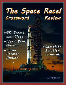 Space race crossword puzzle review by elise parker tpt space race crossword puzzle review ccuart Images