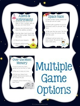 Doubles & Doubles + 1: Space Race Flashcards