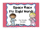 Space Race Fry Sight Words 2nd 100 Word List