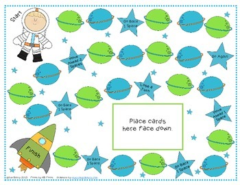Game Boards - Addition and Subtraction Practice - Space Race Edition