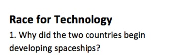 Space Race MC Quiz