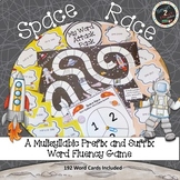 Space Race-Multisyllabic Game Prefix and Suffix Word Fluency