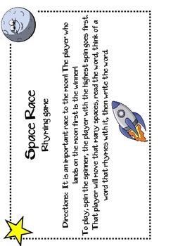 Space Race Rhyming Game