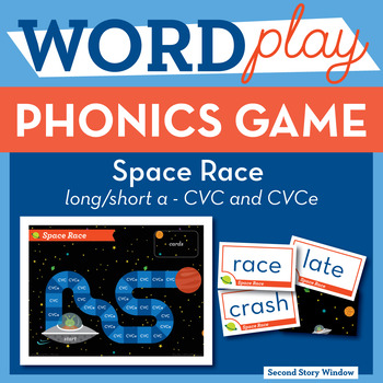 Space Race Short A / CVCe A Phonics Game - Words Their Way Game
