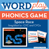Space Race Short Vowel A / Long CVCe A Phonics Game - Words Their Way Game