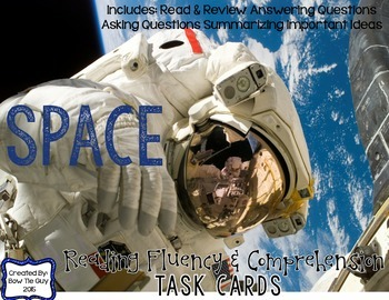 Space Reading Comprehension & Fluency Task Cards