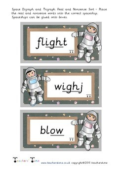 Space Real and Nonsense Word Sort