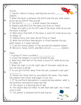 Space Review Crossword Puzzle