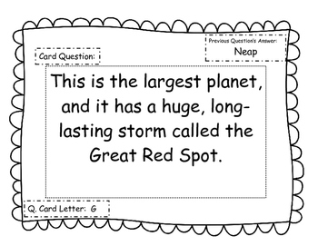 Space Review Scavenger Hunt