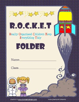 Space {Rocket} Binder and Folder Covers