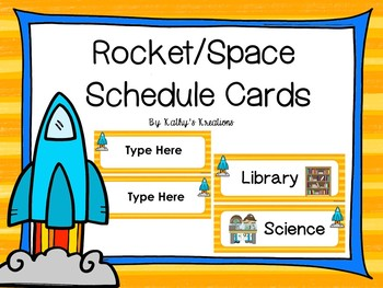 Space/Rocket Schedule Cards