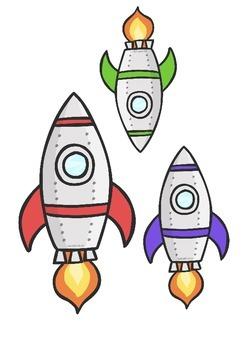 Space Rocket Cut Outs
