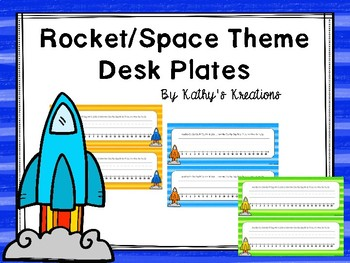 Space/Rocket Deskplates