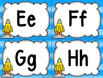 Space/Rocket Editable Word Wall & 200 Fry Words
