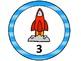 Space/Rocket Table Numbers 1-8