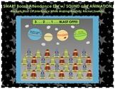 """Space & Rocket Themed """"Blast Off"""" SMART Board Attendance w"""