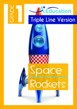 Space - Rockets (IV): Rockets - Grade 1 (with 'Triple-Track Writing Lines')