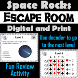 Space Rocks Activity Science Escape Room Astronomy: Comets Meteors Asteroids etc