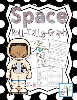Space Roll Tally Graph Math Activity Center Set