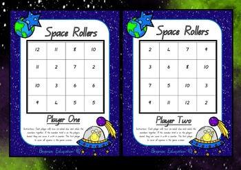 Space Rollers Addition Game