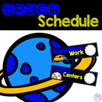 Space Schedule Cards (Editable)