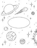 Space Science Binder Cover Coloring Sheet