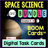 Space Science Boom Card Bundle: Moon, Planets, Universe