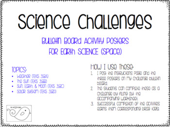 Space Science Challenges Bulletin Board Set