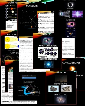 Space Science Extensive Content Vocabulary with Definitions and Illustrations
