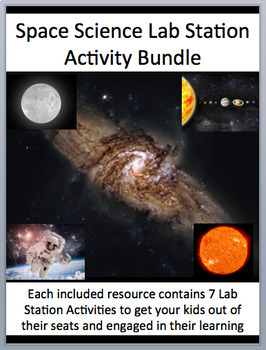 Space Science Lab Station Activity Bundle - 6 - Engaging, Hands-on Activities