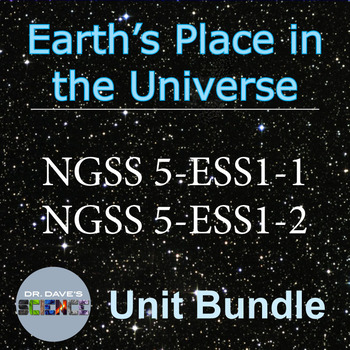 Space Science for NGSS 5 ESS1 and 5-ESS1-2 Unit Bundle