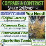 Space Settlements - Compare and Contrast Writing Prompt Essay Text Evidence TDA