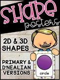 Space Shape Posters - Space Classroom Decor