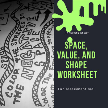 Space, Shape, and Value Worksheet