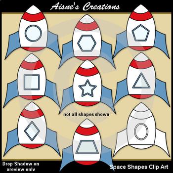 Space Shapes Clip Art