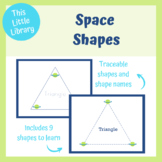 Space Shapes - Play dough and dry erase mats