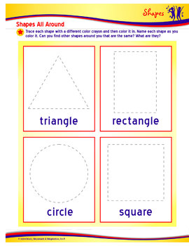 Space Shapes Song with Lesson Materials -- Simple Shapes