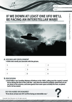 Space - Shooting Down A UFO - Grade 12