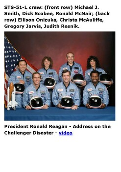 Space Shuttle Challenger disaster Handout