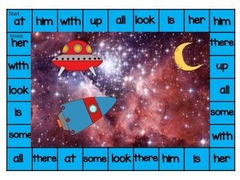 Space Sight Word Boards