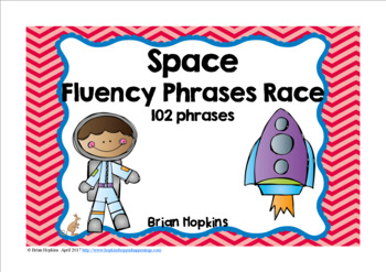 Space Sight Word Fluency Phrases Race